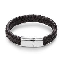 Load image into Gallery viewer, Punk Men Braided Leather Bracelet With Magnetic Clasp