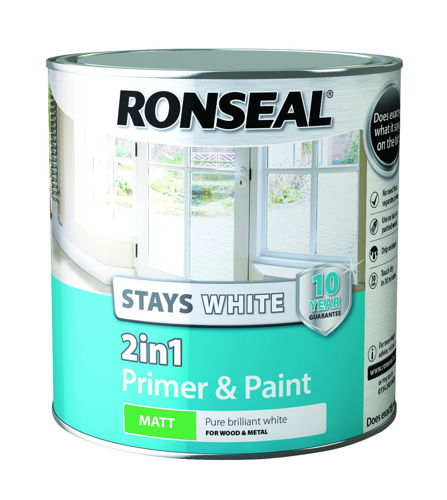 Ronseal ronseal woodcare buy ronseal the decorators for One coat white paint