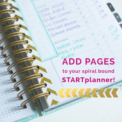 ADDING OUR PRINTABLES TO YOUR HUSTLE DAILY SPIRAL STARTPLANNER