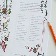 Fall Coloring & Bucket List