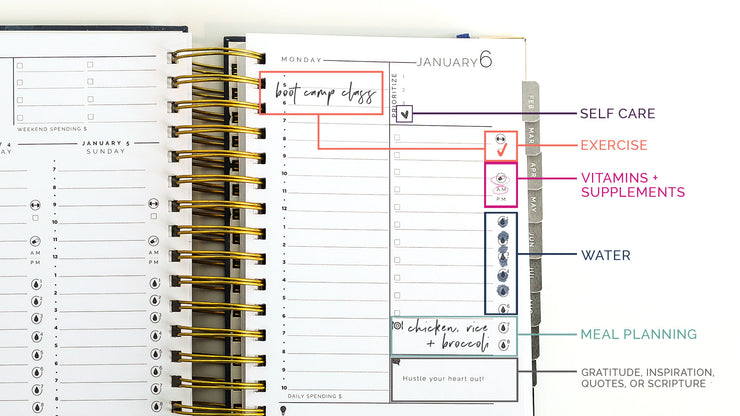 2020-21 Midyear Hustle Daily Planner