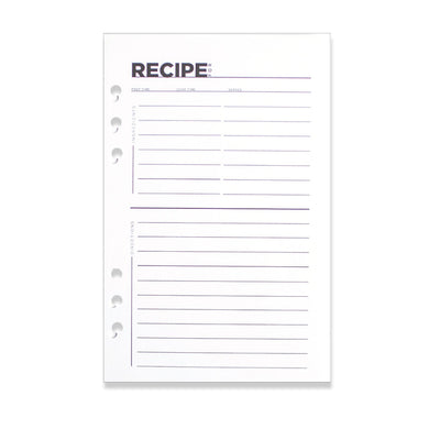 A5 Fancy Pants Recipe Cards