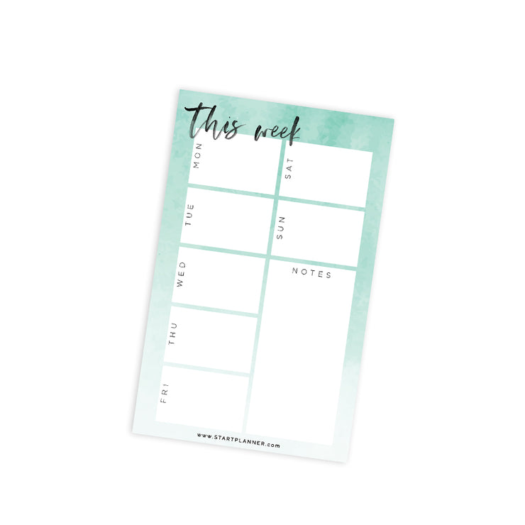 Weekly Dashboard Notepad