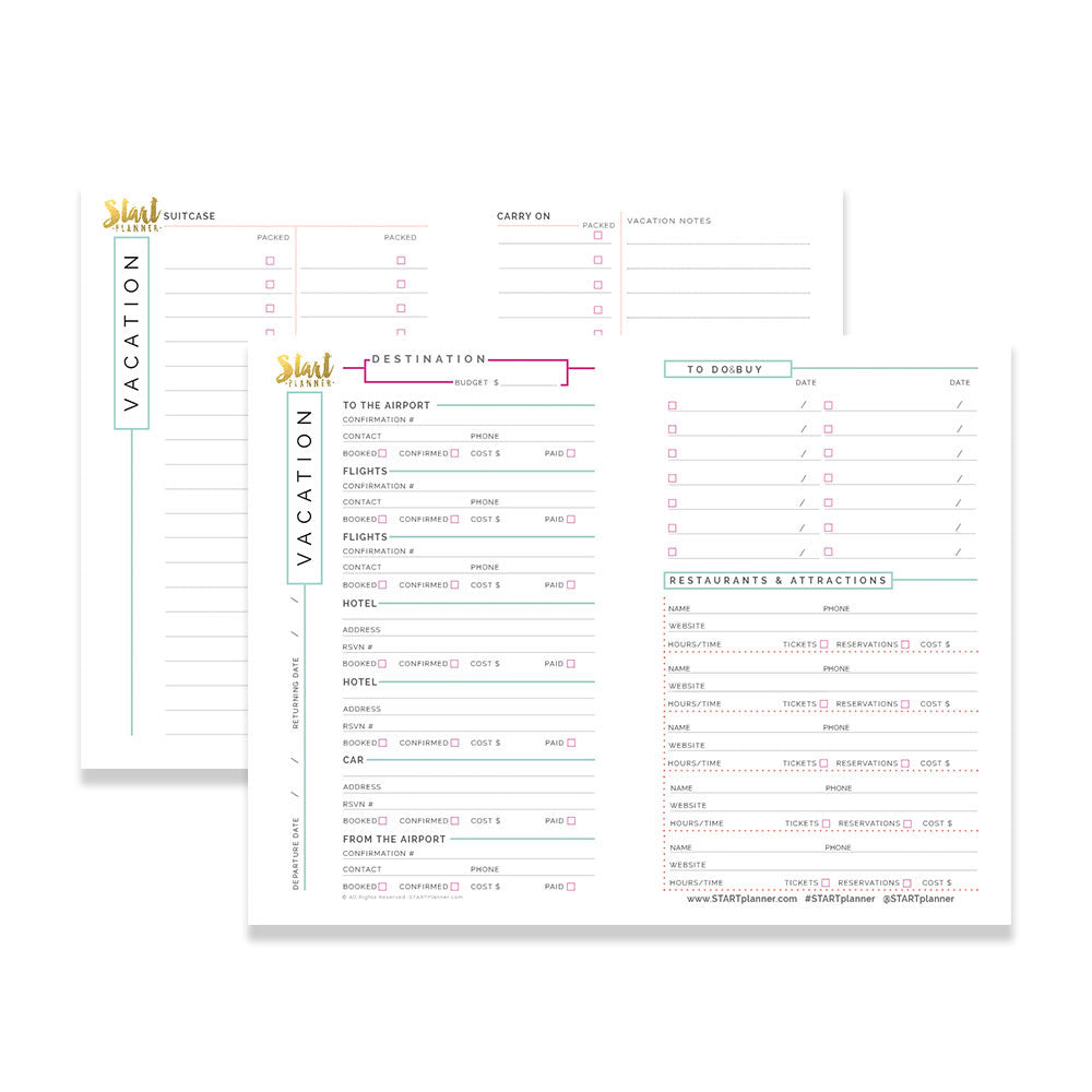 It is an image of Trip Planner Printable with regard to family vacation