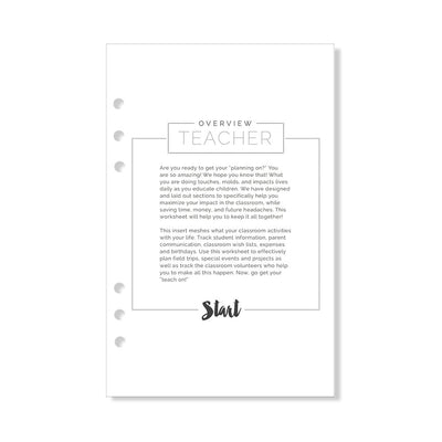 A5 Fancy Pants Teacher Add-In Insert Pack