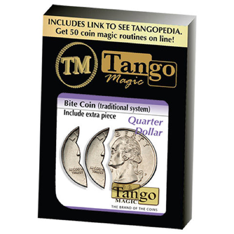 Bite Coin (US Quarter - Traditional With Extra Piece) (D0047) by Tango
