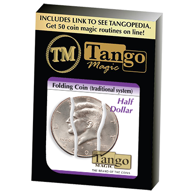 Folding Coin Half Dollar (Traditional) D0020 by Tango Magic