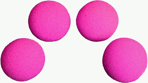 "1.5"" HD Ultra Soft Sponge Balls (Hot Pink) Pack of 4 from Magic by Gosh"