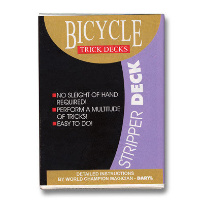 Stripper Deck Bicycle (Red) by US Playing Card