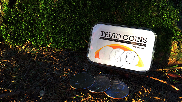 Triad Coins (US Gimmick and Online Video Instructions) by Joshua Jay and Vanishing Inc.