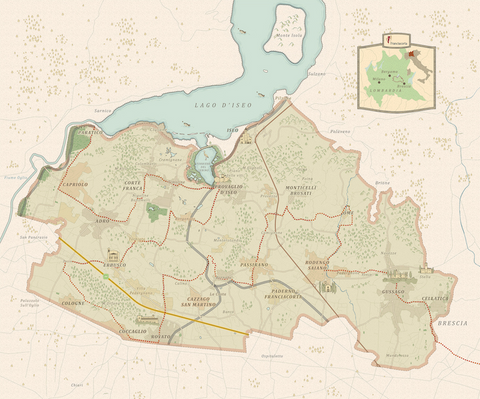 Franciacorta map