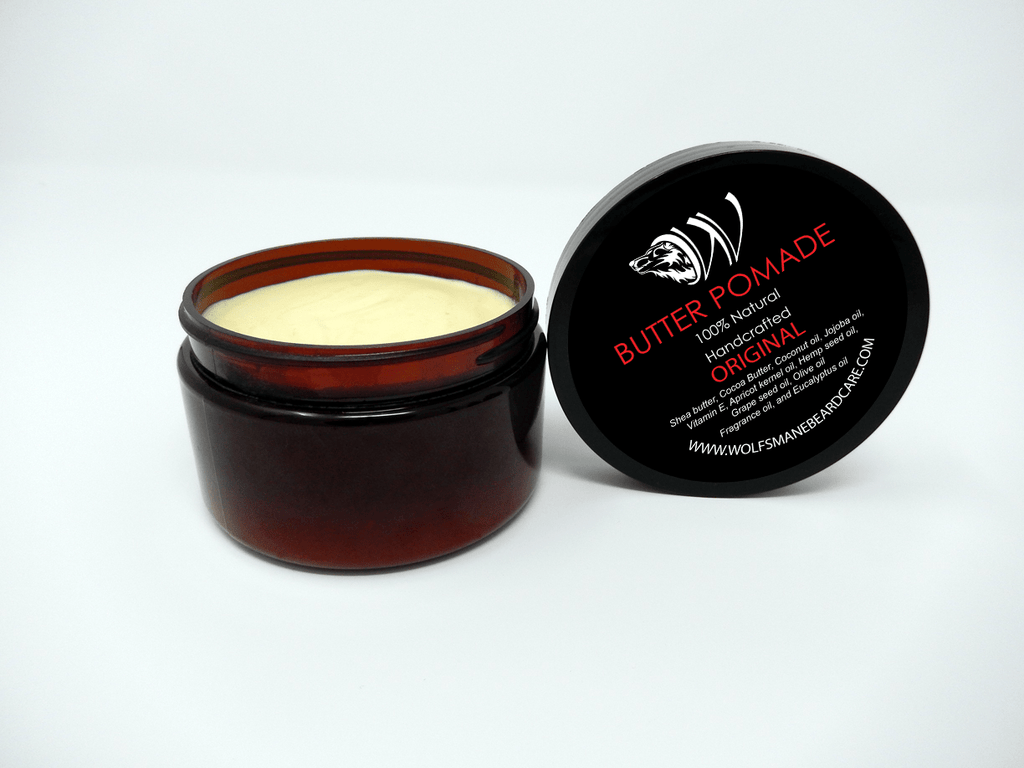All-natural Professional Butter Pomade - Original Scent - Wolf's Mane Beard Care