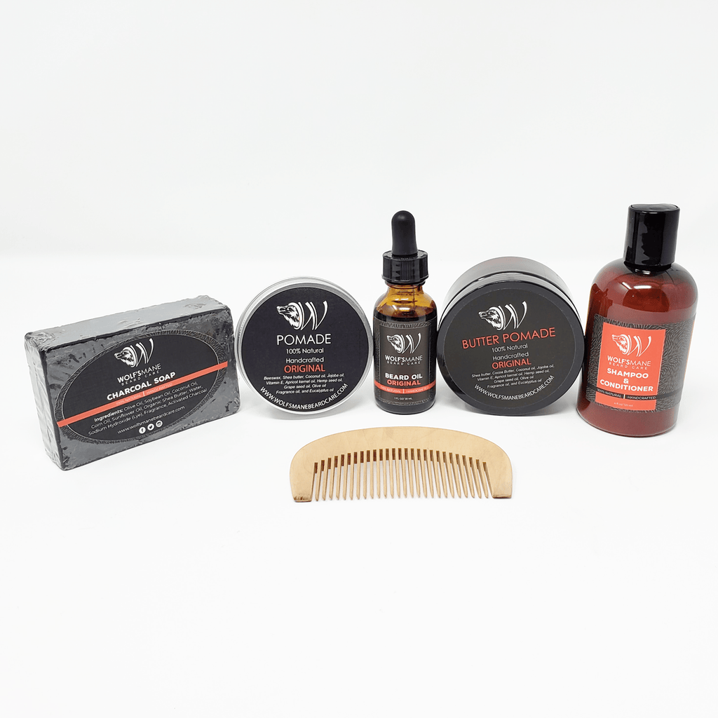 All-natural Wolf Pack kit - Original scent - Wolf's Mane Beard Care