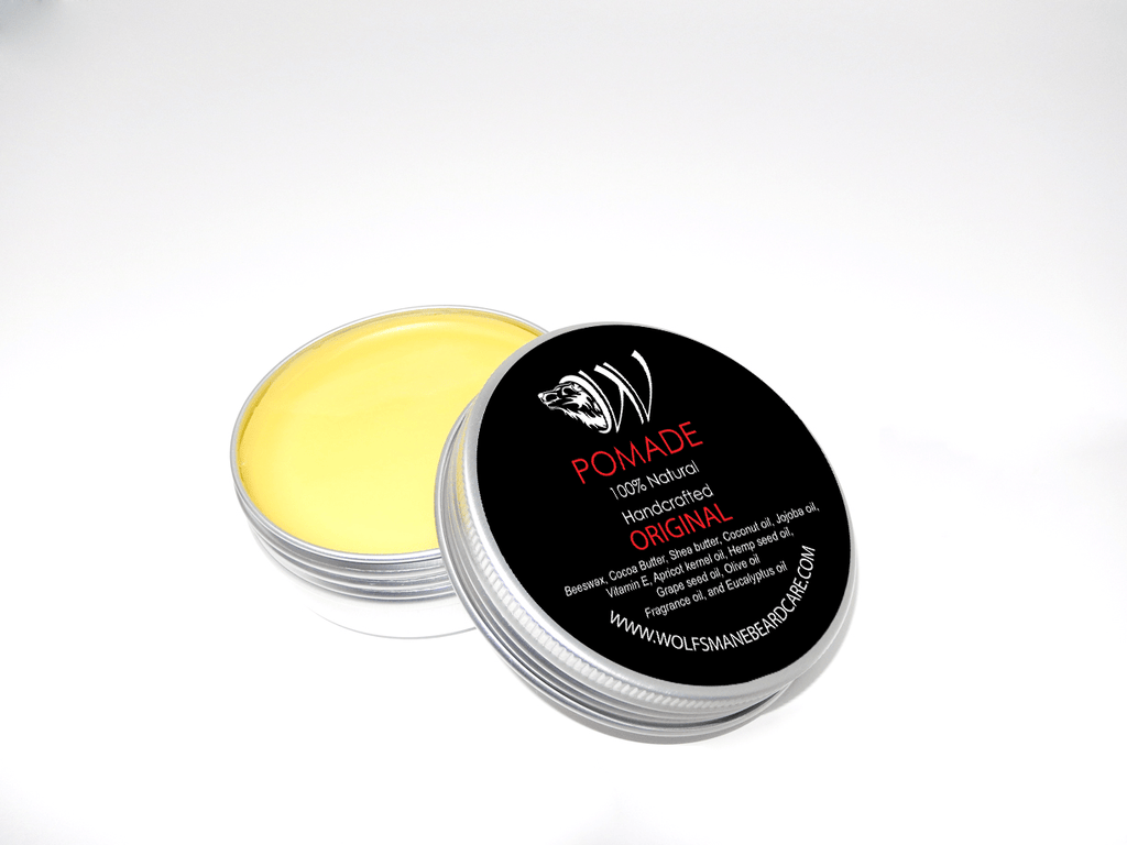 Professional All Natural Styling Pomade - Original Scent - Wolf's Mane Beard Care
