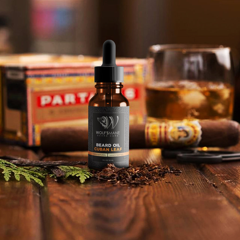 Natural Based Conditioning Beard Oil - Cuban Leaf Scent