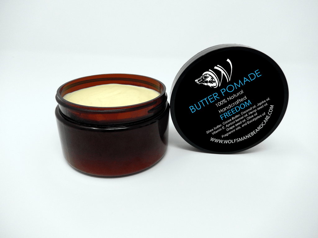 All-natural Professional Butter Pomade - Freedom scent - Wolf's Mane Beard Care