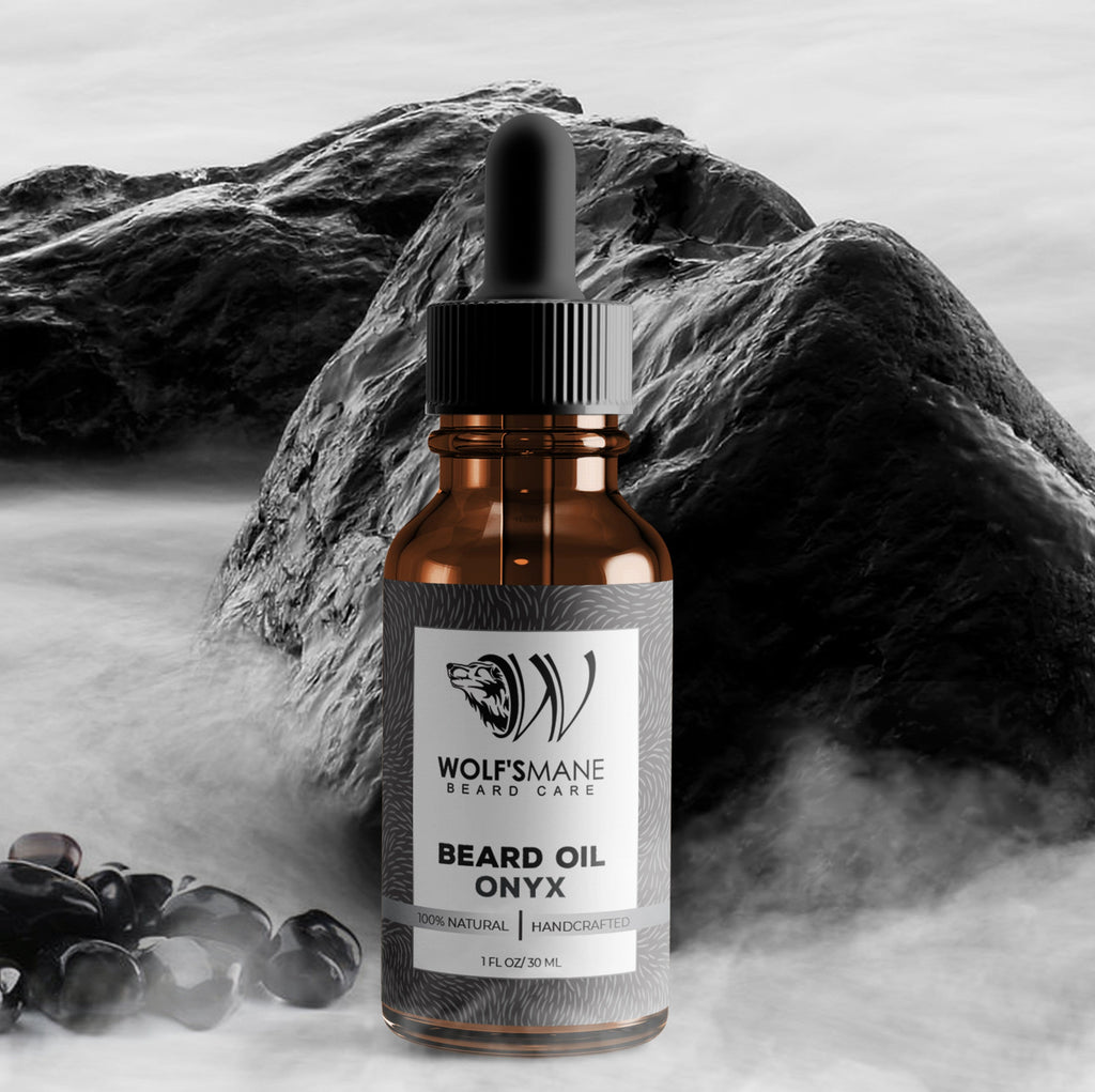 Natural Based Conditioning Beard Oil - Onyx Scent - Wolf's Mane Beard Care