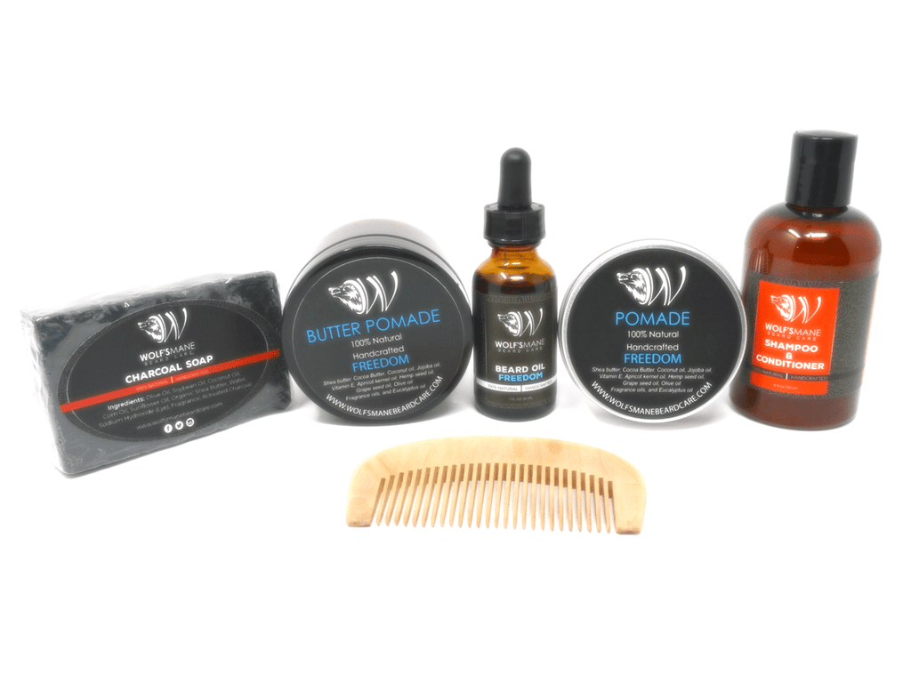All-natural Wolf Pack kit - Freedom scent - Wolf's Mane Beard Care