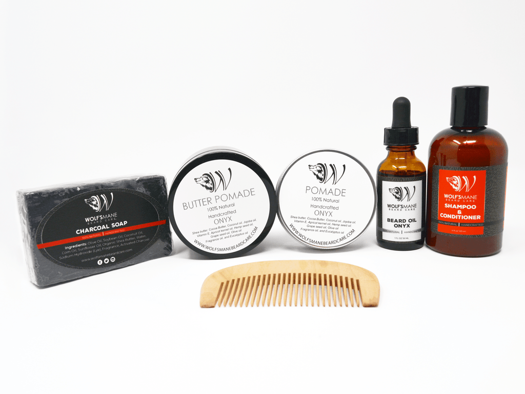 All-natural Wolf Pack kit - Onyx scent - Wolf's Mane Beard Care