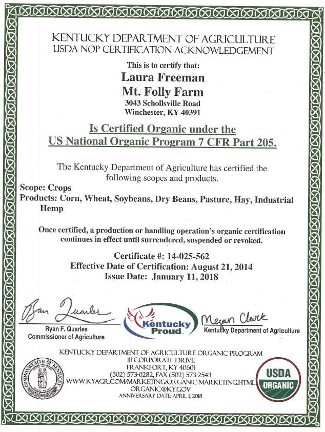 CERTIFICATIONS | Laura's Mercantile