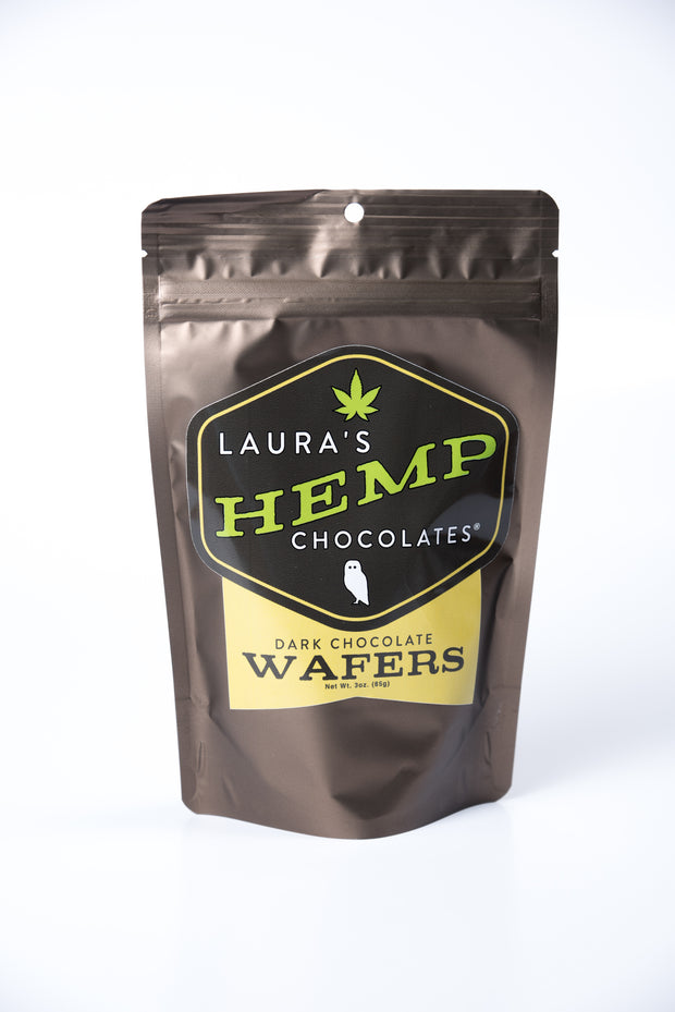 Hemp and Dark Chocolate Wafers