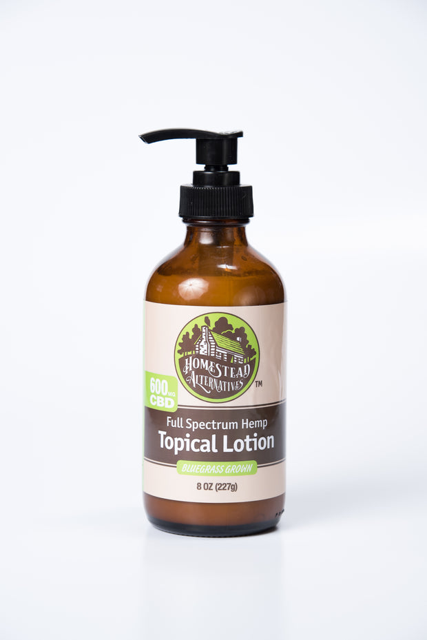 Homestead Alternatives Full Spectrum CBD Topical Lotion (600mg CBD)