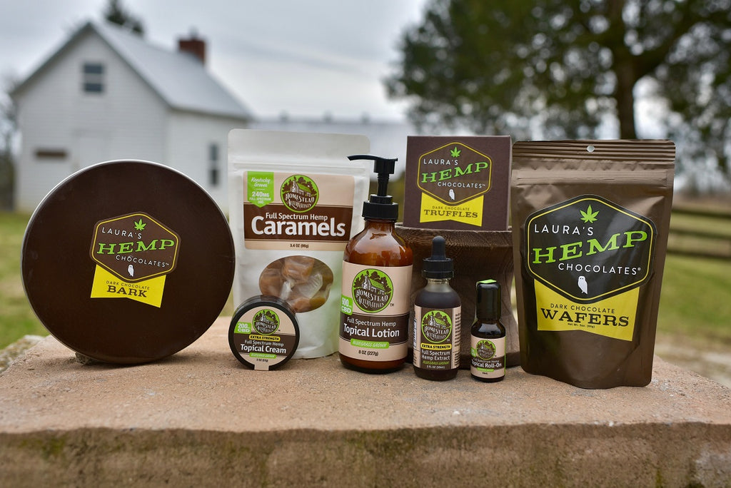 Homestead Alternatives CBD and Laura's Hemp Chocolates Mercantile Experience Bundle