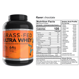 Grass Fed Ultra Whey with Nutrition Panel