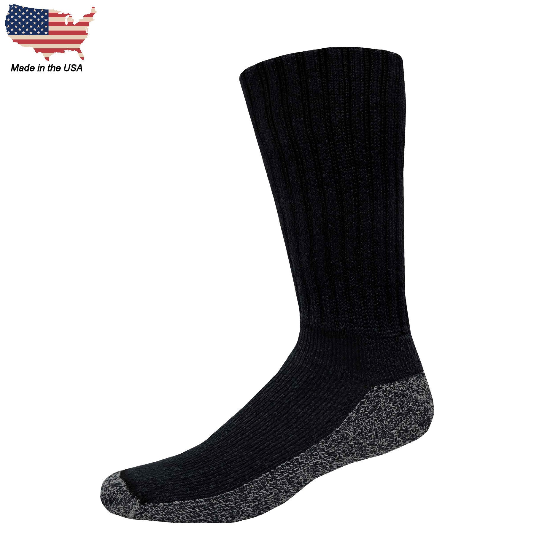 Foot Comfort Diabetic Care Black Crew Socks