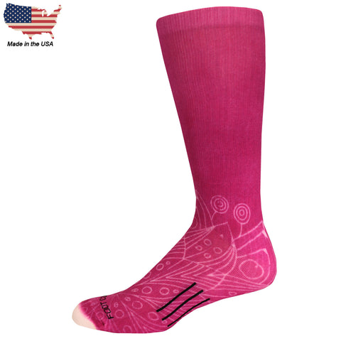 Foot Comfort Graduated Compression OTC Fashion Fuchsia Socks