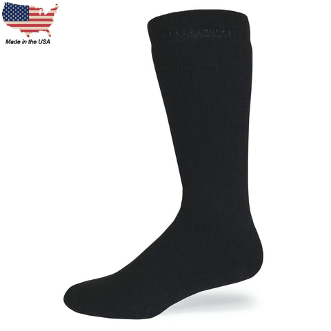 Foot Comfort Cozy Onyx Crew Socks