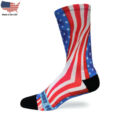 Foot Comfort DTG 360 Patriot Crew Socks