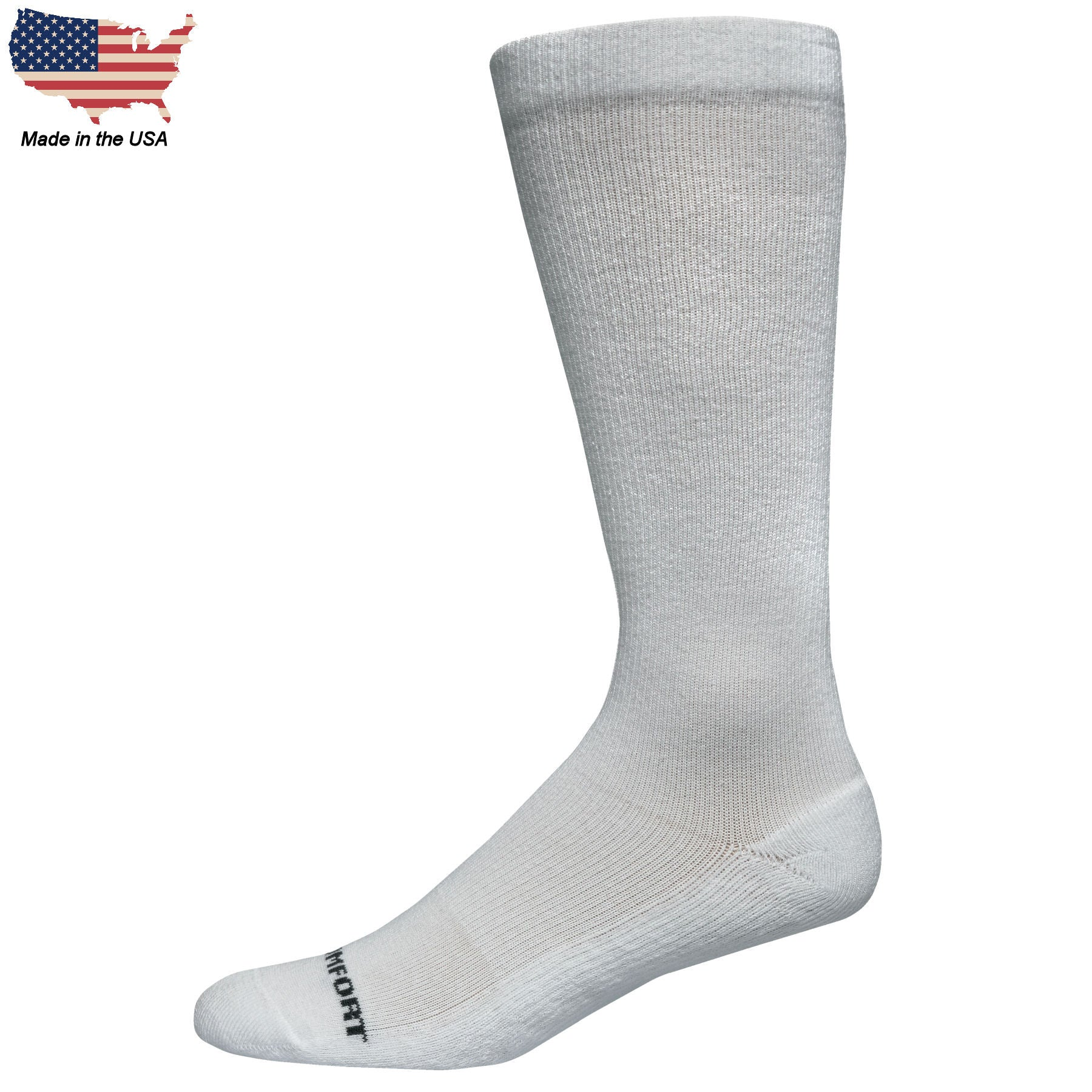 Foot Comfort Recover Graduated Compression White OTC Socks