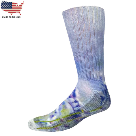 Foot Comfort Diabetic Care Floral Crew Socks