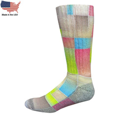 Foot Comfort Diabetic Care Fashion Retro Crew Socks