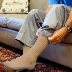 Foot Comfort Diabetic Care Khaki Crew Socks