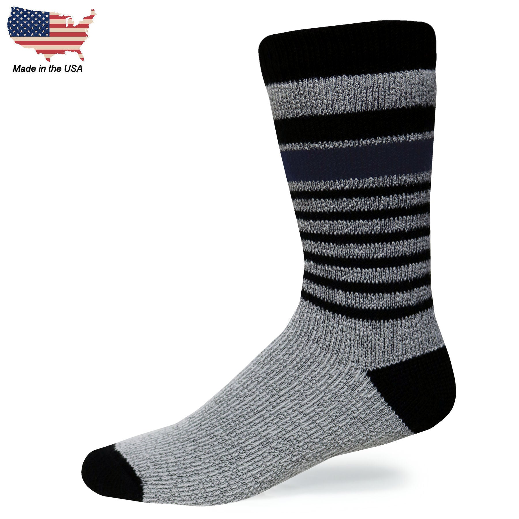 Foot Comfort Cozy Granite Crew Socks