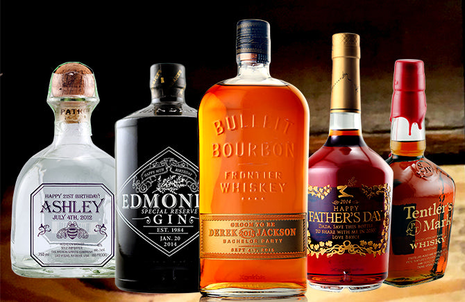 personalized liquor bottles etching expressions