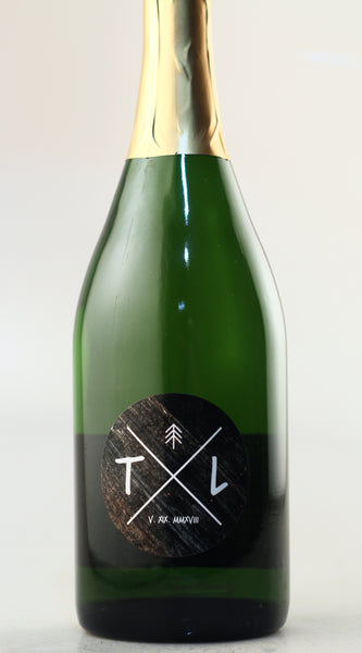 California Champagne - Circle Cross Initials Label