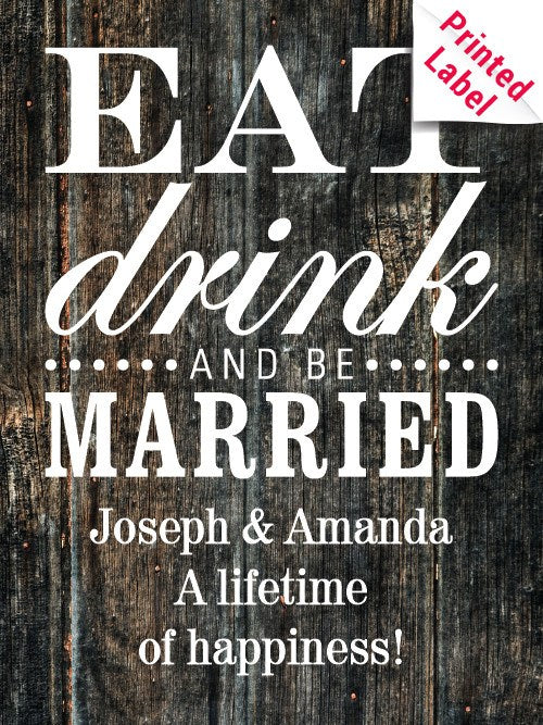 Coppola Diamond Merlot - Eat Drink & Be Married Label