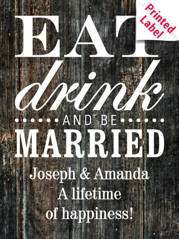 Firestone Walker Opal Farmhouse Ale - Eat Drink & Be Married Label