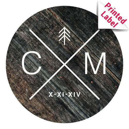 Balsamic Vinegar - Circle Cross Initials Label