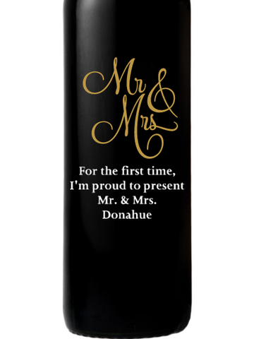 Stag's Leap Artemis Cabernet - Mr & Mrs
