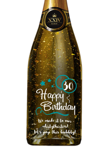 XXIV Karat Grand Cuvee Sparkling Wine - Birthday Blue Balloons