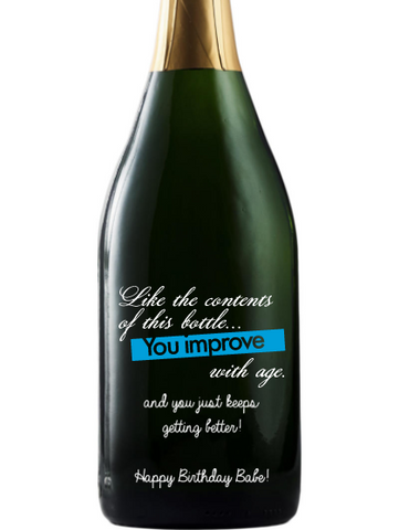 California Champagne - Birthday Improve with Age