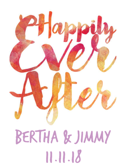 California Champagne - Happily Ever After Label