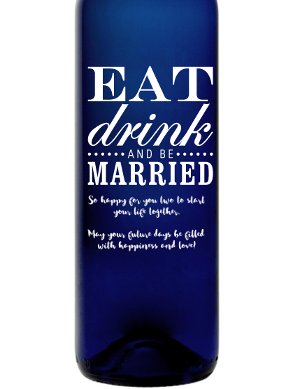Bartenura Moscato - Eat Drink and Be Married
