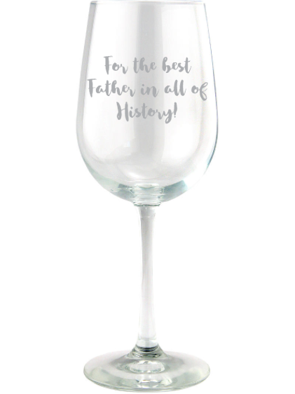 Red Wine Glass - Text