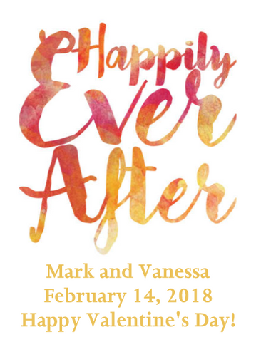 Robert Mondavi Napa Valley Chardonnay - Happily Ever After Label