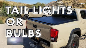 How to replace or upgrade 2016-2019 Toyota Tacoma taillight bulb (60 Second Video)